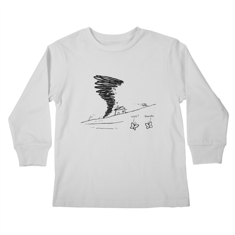 Look What I Did Kids Longsleeve T-Shirt by Fox Shiver's Artist Shop