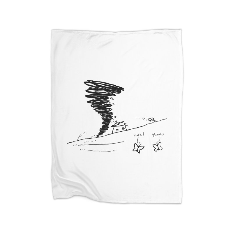 Look What I Did Home Fleece Blanket Blanket by Fox Shiver's Artist Shop