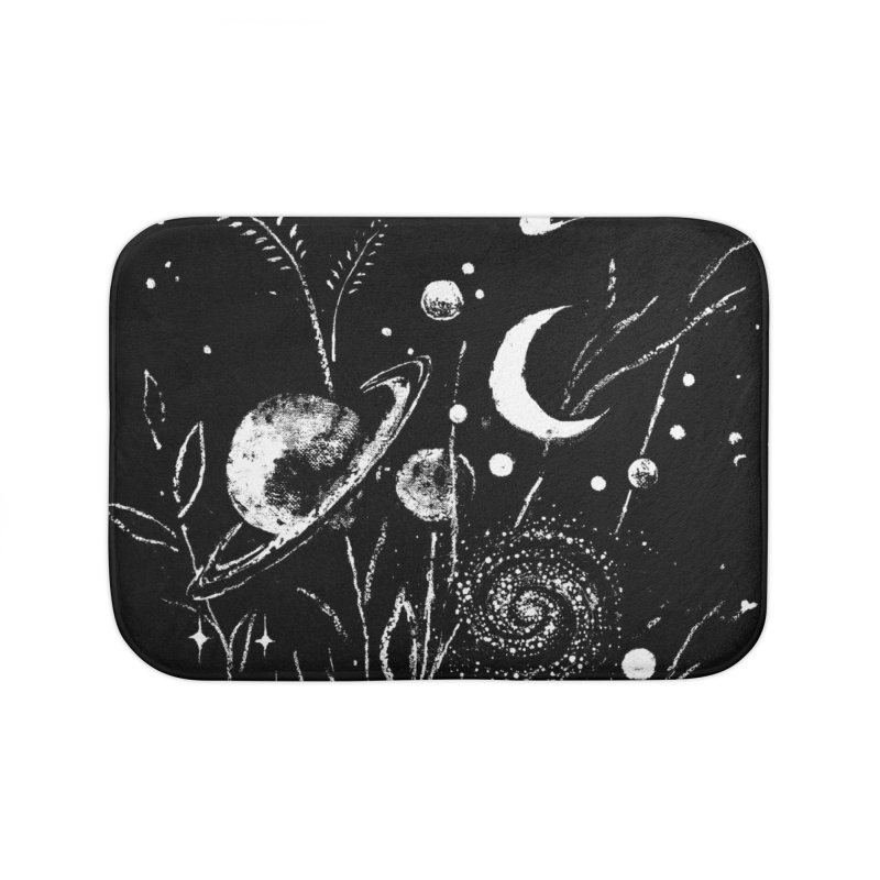 Space Botanica Home Bath Mat by Fox Shiver's Artist Shop