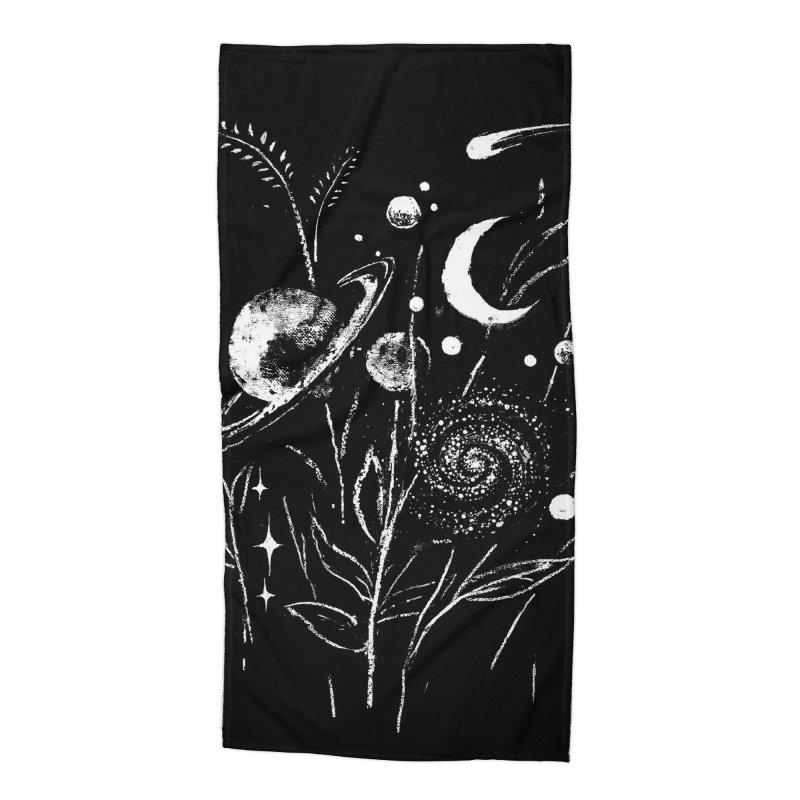 Space Botanica Accessories Beach Towel by Fox Shiver's Artist Shop