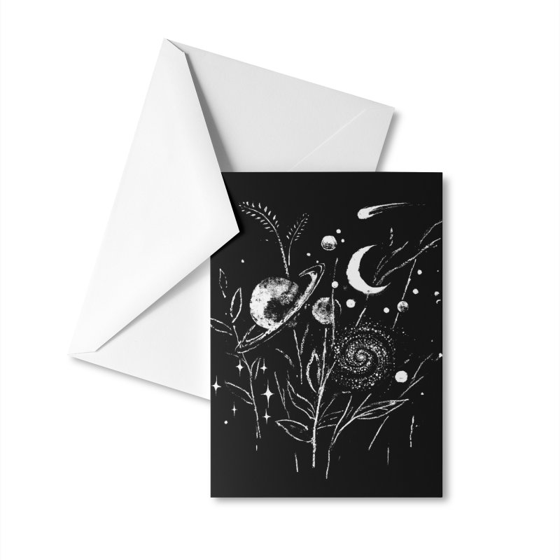 Space Botanica Accessories Greeting Card by Fox Shiver