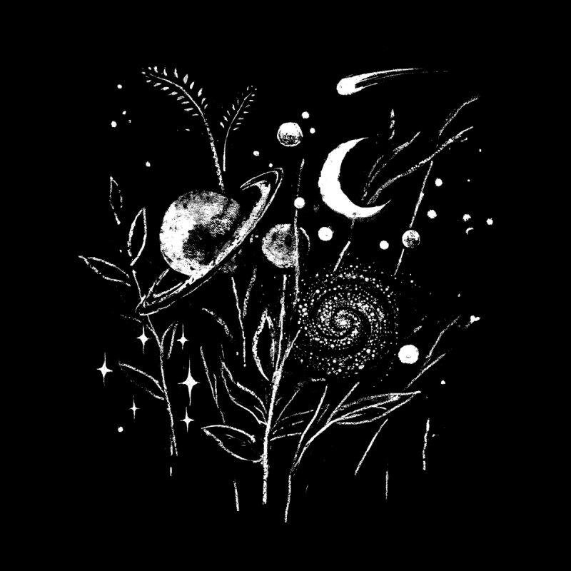 Space Botanica Women's T-Shirt by Fox Shiver