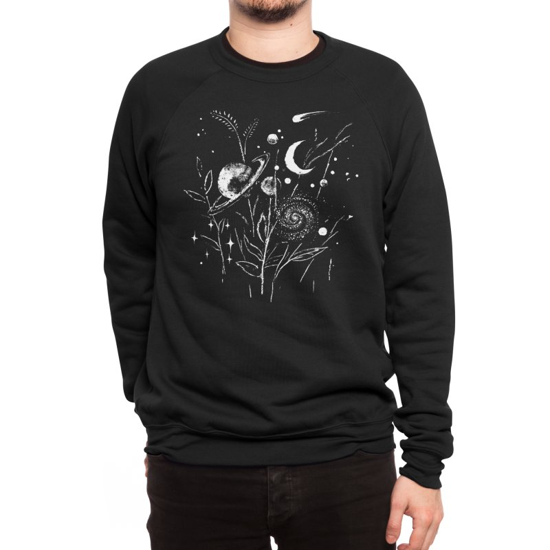 Space Botanica Men's Sweatshirt by Fox Shiver