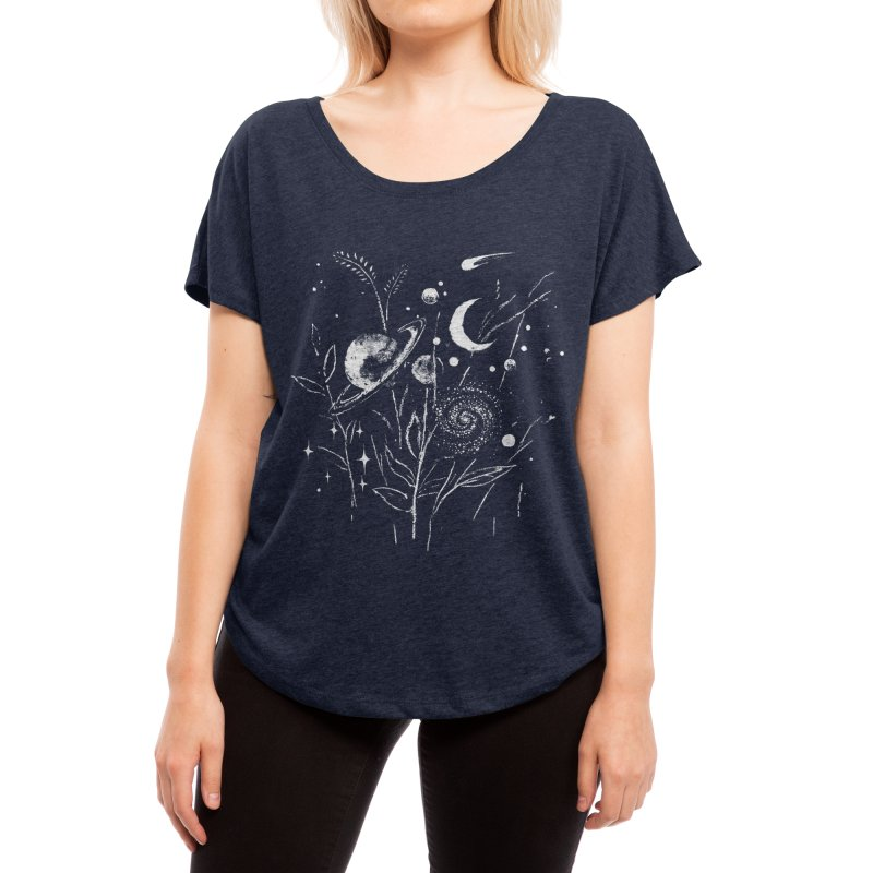 Space Botanica Women's Scoop Neck by Fox Shiver