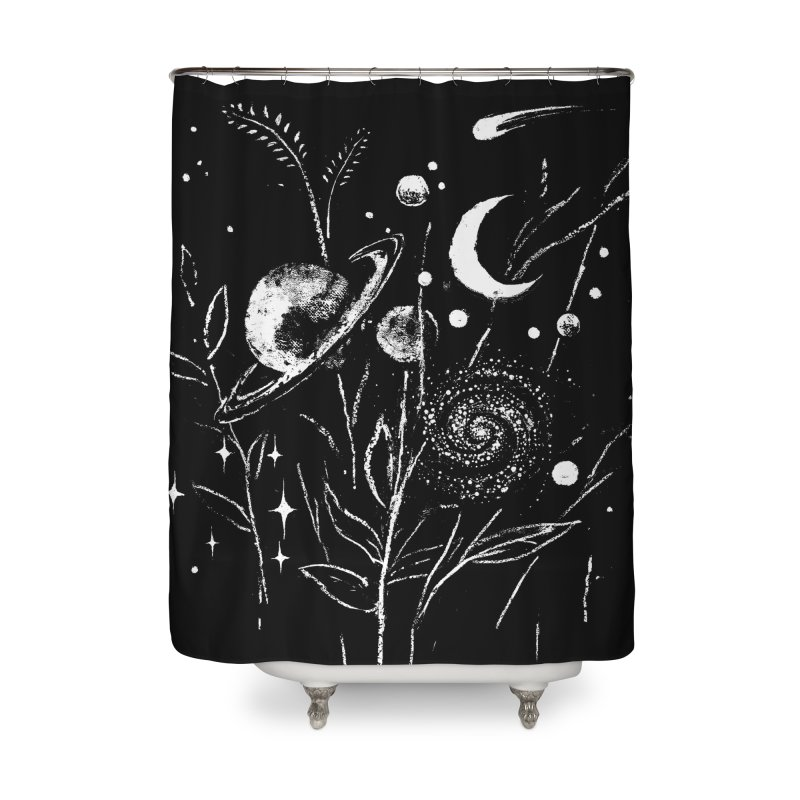 Space Botanica Home Shower Curtain by Fox Shiver's Artist Shop