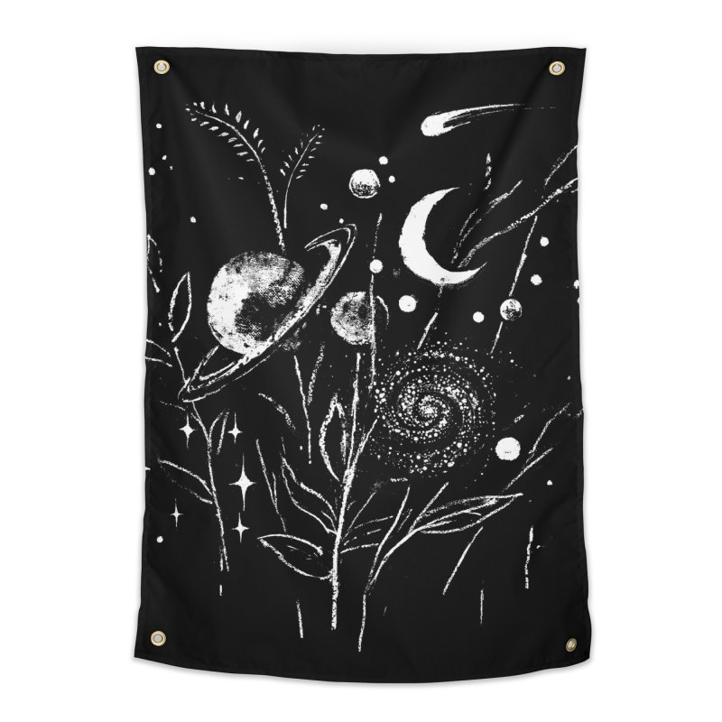 Space Botanica Home Tapestry by Fox Shiver's Artist Shop