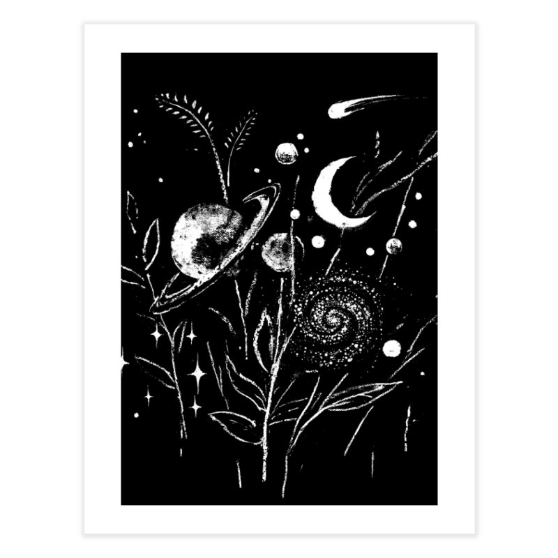 Space Botanica Home Fine Art Print by Fox Shiver's Artist Shop