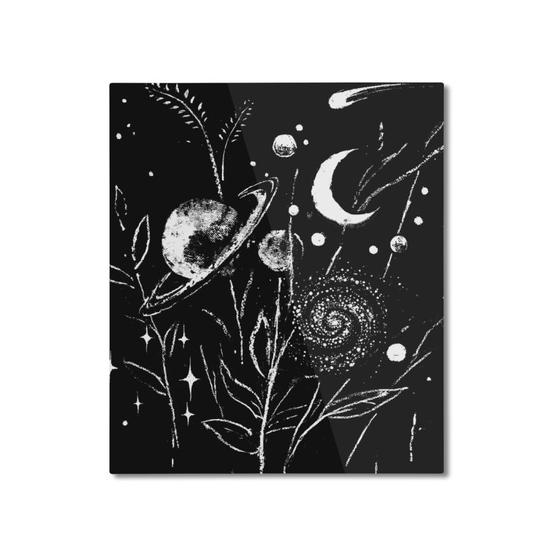 Space Botanica Home Mounted Aluminum Print by Fox Shiver's Artist Shop