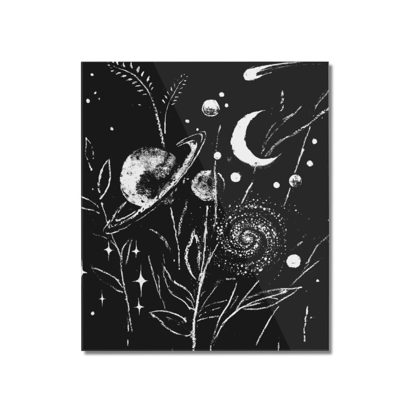 Space Botanica Home Mounted Acrylic Print by Fox Shiver's Artist Shop