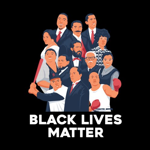 Design for FIRST ACHIEVEMENT IN BLACK HISTORY - BLACK LIVES MATTER