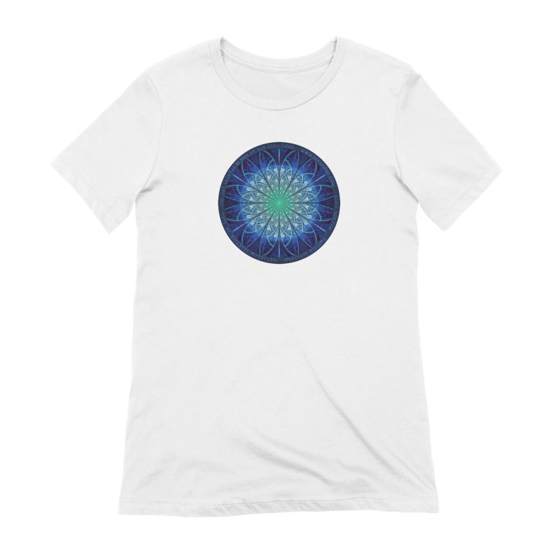 Beautiful Baby Blue & Powdered Fractal Snowflakes Women's Extra Soft T-Shirt by The Fractal Art of San Jaya Prime