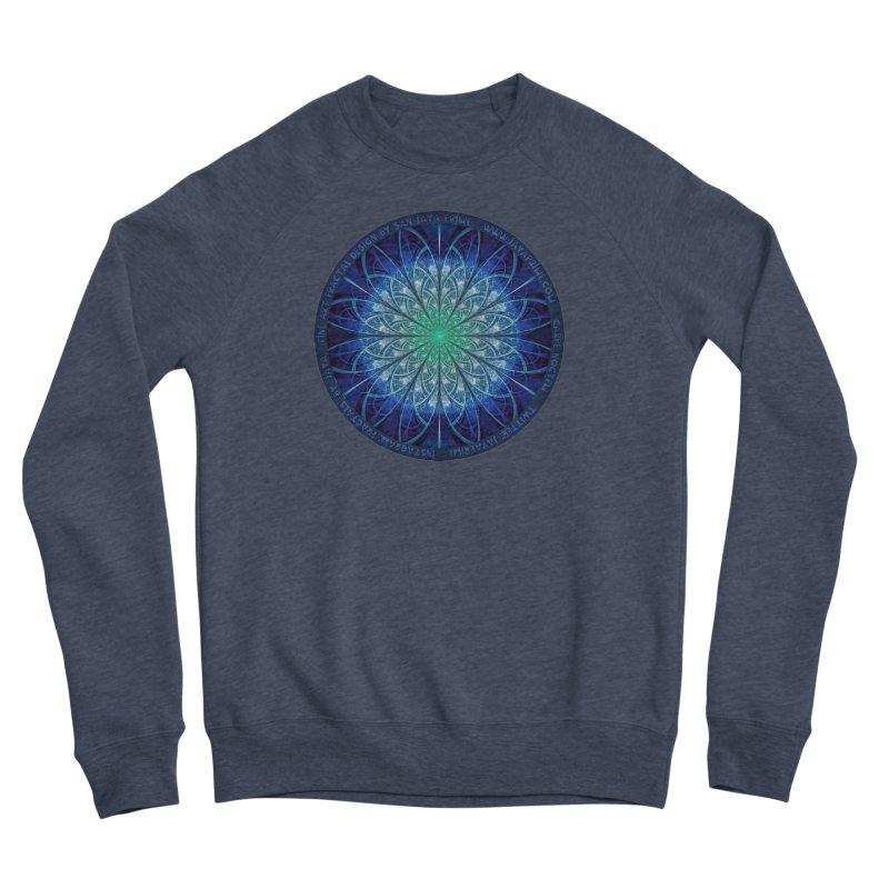 Beautiful Baby Blue & Powdered Fractal Snowflakes Men's Sponge Fleece Sweatshirt by The Fractal Art of San Jaya Prime