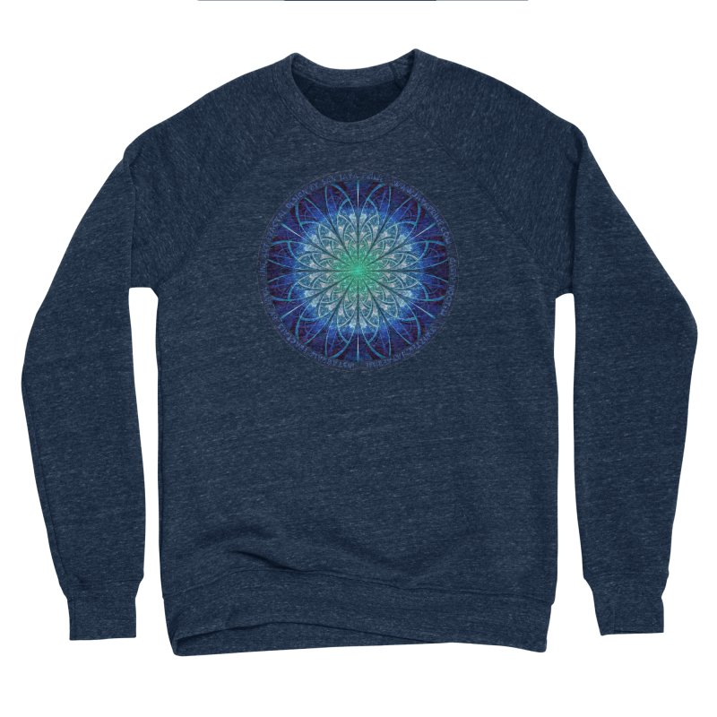 Beautiful Baby Blue & Powdered Fractal Snowflakes Women's Sponge Fleece Sweatshirt by The Fractal Art of San Jaya Prime