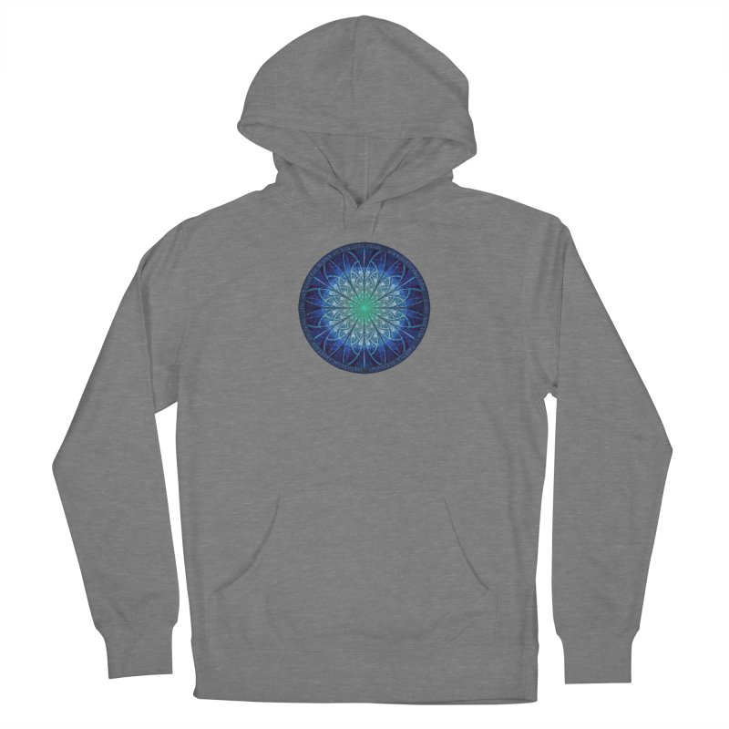 Beautiful Baby Blue & Powdered Fractal Snowflakes Women's Pullover Hoody by The Fractal Art of San Jaya Prime