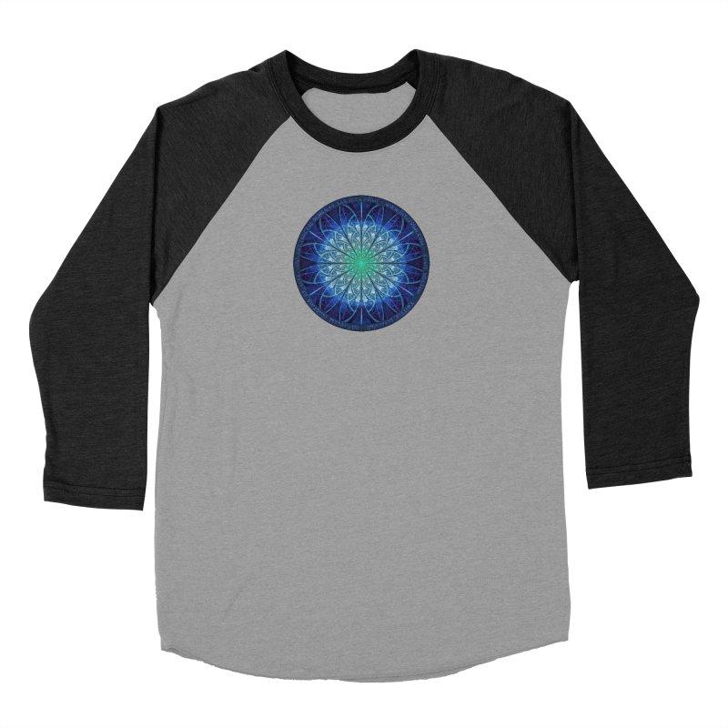 Beautiful Baby Blue & Powdered Fractal Snowflakes Men's Longsleeve T-Shirt by The Fractal Art of San Jaya Prime