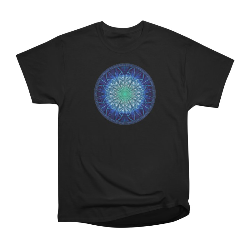Beautiful Baby Blue & Powdered Fractal Snowflakes Men's Heavyweight T-Shirt by The Fractal Art of San Jaya Prime