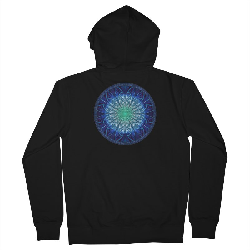 Beautiful Baby Blue & Powdered Fractal Snowflakes Women's French Terry Zip-Up Hoody by The Fractal Art of San Jaya Prime