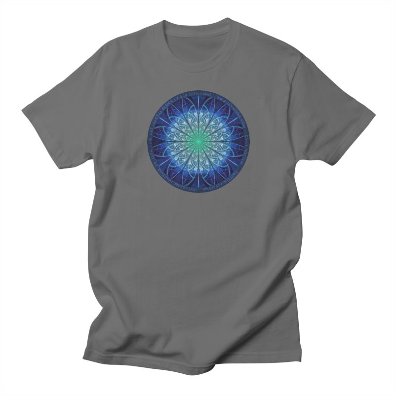 Beautiful Baby Blue & Powdered Fractal Snowflakes Men's T-Shirt by The Fractal Art of San Jaya Prime