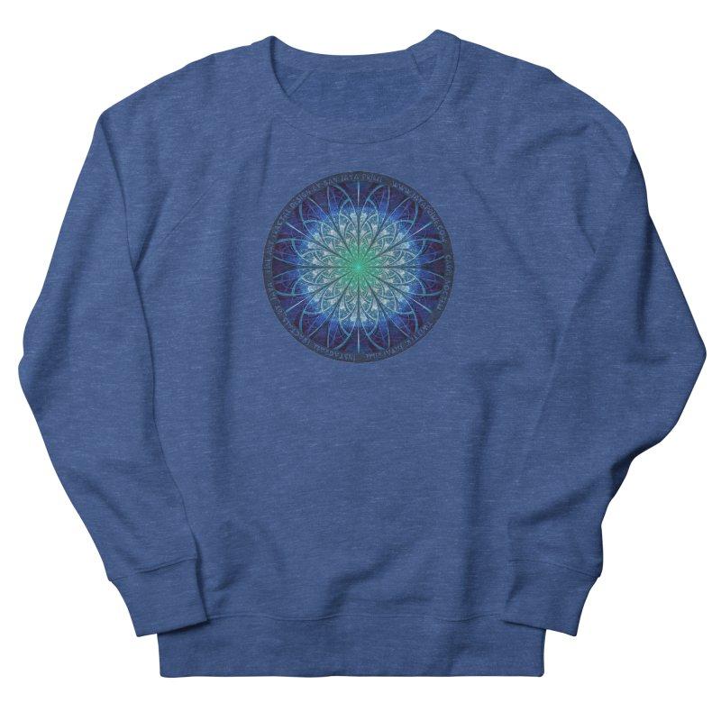 Beautiful Baby Blue & Powdered Fractal Snowflakes Women's Sweatshirt by The Fractal Art of San Jaya Prime