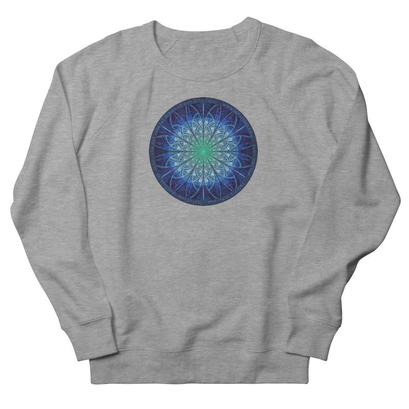 Beautiful Baby Blue & Powdered Fractal Snowflakes Women's French Terry Sweatshirt by The Fractal Art of San Jaya Prime