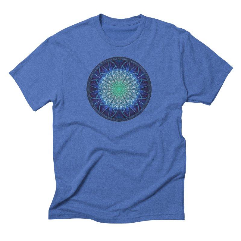 Beautiful Baby Blue & Powdered Fractal Snowflakes Men's Triblend T-Shirt by The Fractal Art of San Jaya Prime