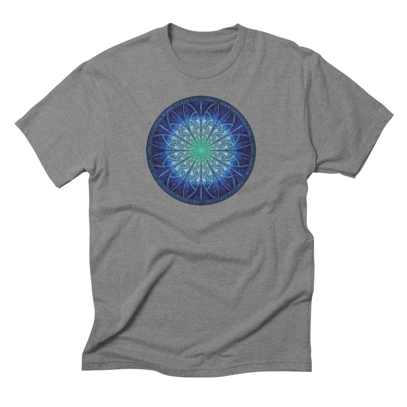 Beautiful Baby Blue & Powdered Fractal Snowflakes Men's Triblend T-Shirt by The Fractal Art of San Jaya Prime