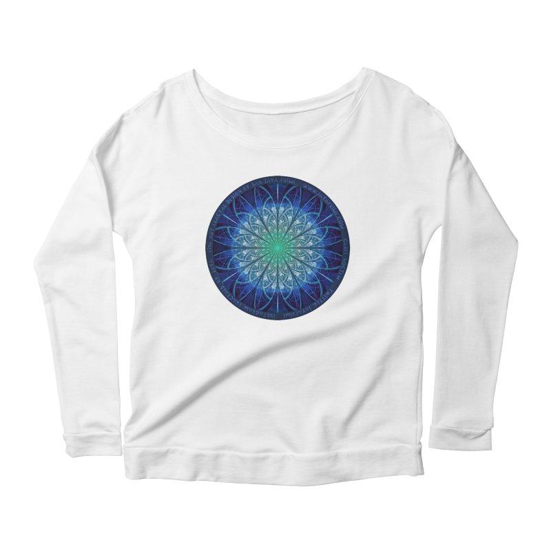 Beautiful Baby Blue & Powdered Fractal Snowflakes Women's Scoop Neck Longsleeve T-Shirt by The Fractal Art of San Jaya Prime