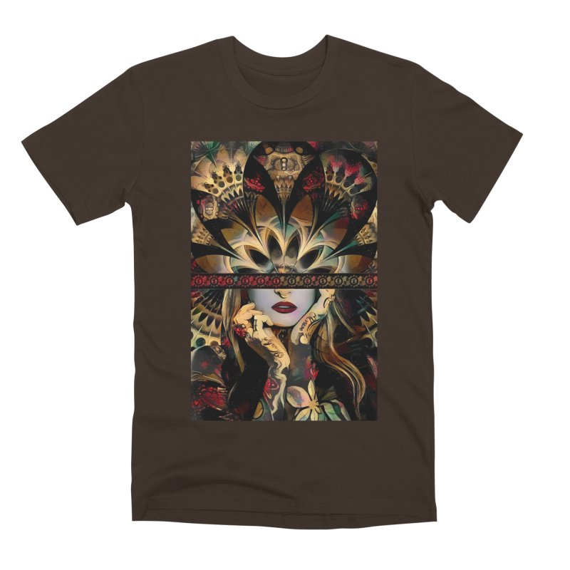 The Lady of a Thousand Swords (Desert Tribal Fractal Fusion) Men's T-Shirt by The Fractal Art of San Jaya Prime