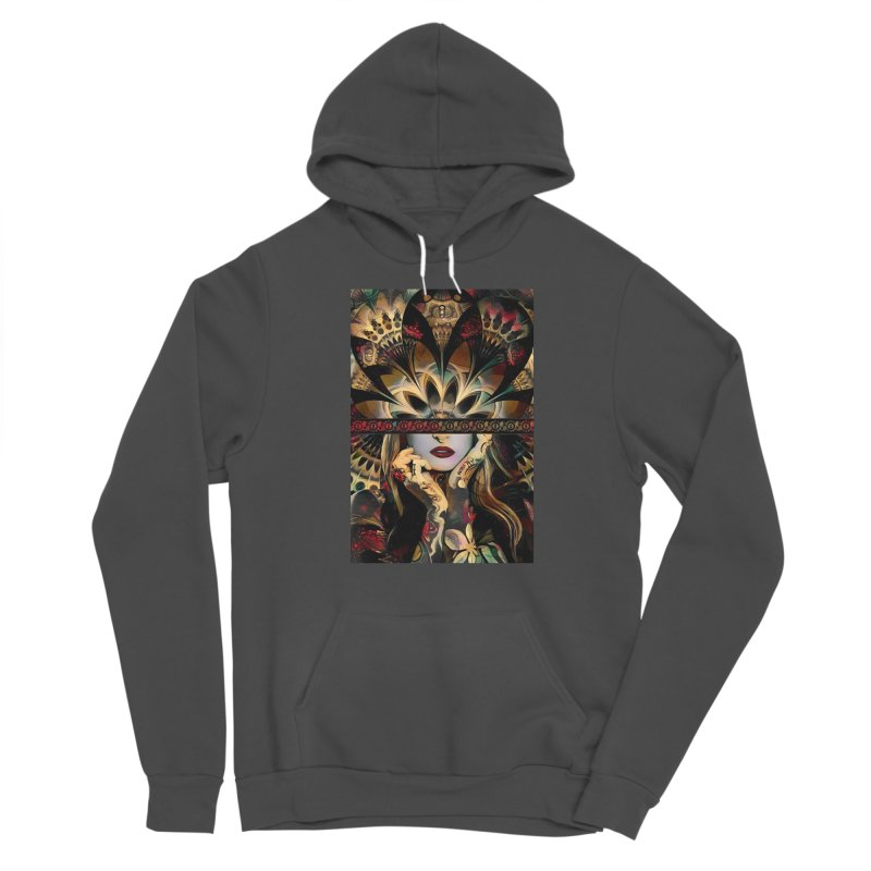 The Lady of a Thousand Swords (Desert Tribal Fractal Fusion) Women's Pullover Hoody by The Fractal Art of San Jaya Prime