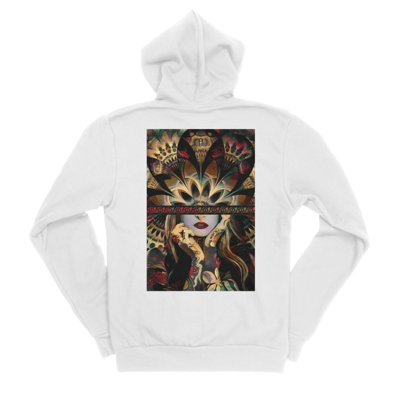 The Lady of a Thousand Swords (Desert Tribal Fractal Fusion) Women's Zip-Up Hoody by The Fractal Art of San Jaya Prime