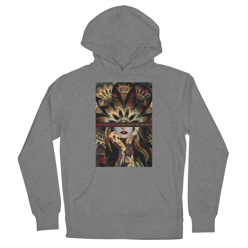 The Lady of a Thousand Swords (Desert Tribal Fractal Fusion) Men's Pullover Hoody by The Fractal Art of San Jaya Prime