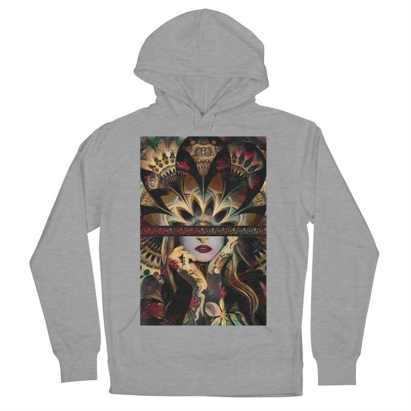 The Lady of a Thousand Swords (Desert Tribal Fractal Fusion) Women's French Terry Pullover Hoody by The Fractal Art of San Jaya Prime