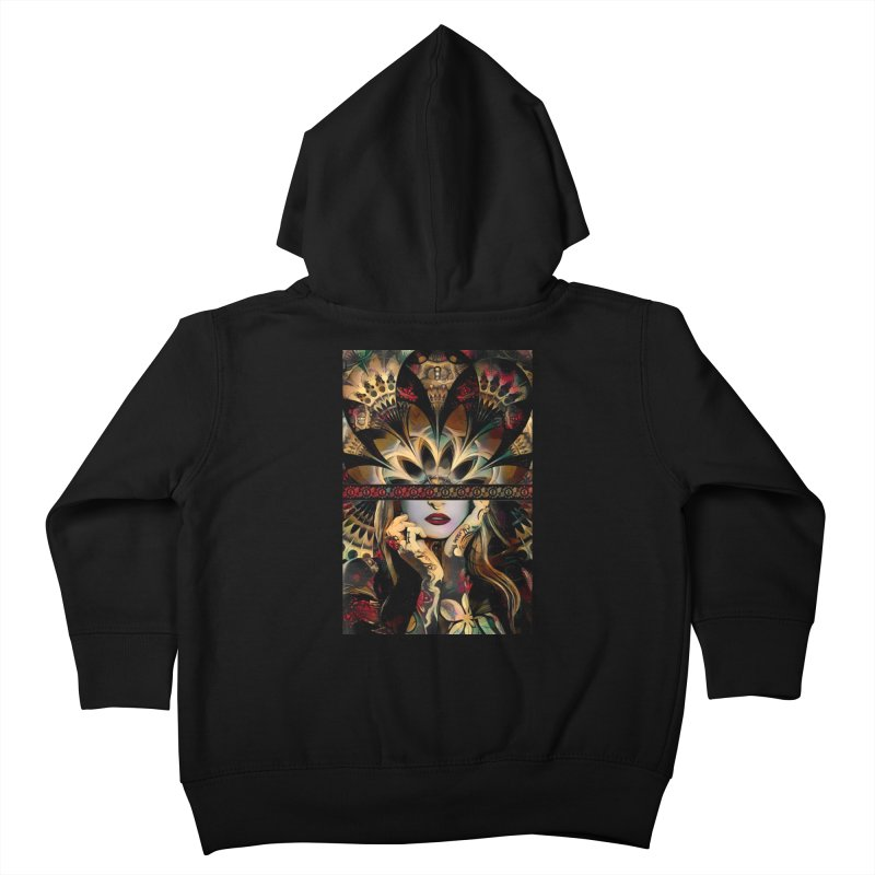 The Lady of a Thousand Swords (Desert Tribal Fractal Fusion) Kids Toddler Zip-Up Hoody by The Fractal Art of San Jaya Prime