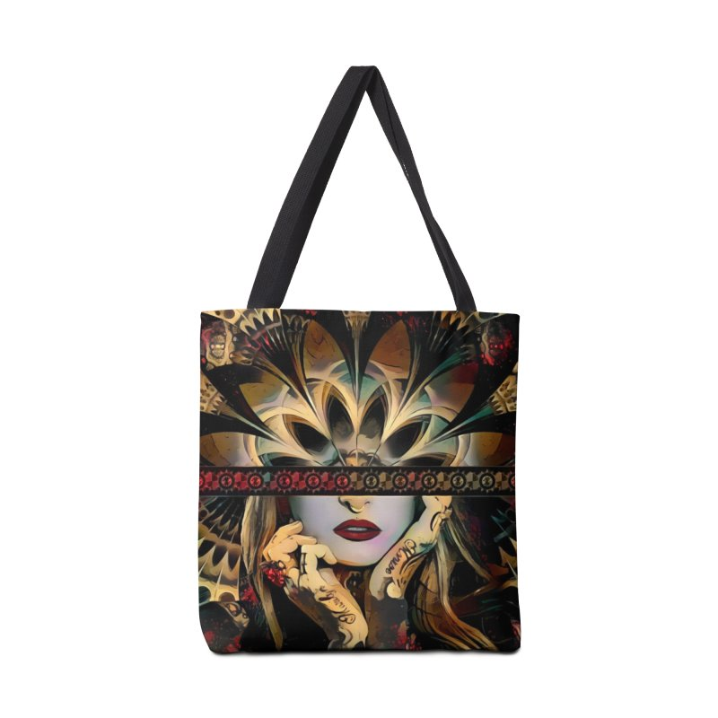 The Lady of a Thousand Swords (Desert Tribal Fractal Fusion) Accessories Tote Bag Bag by The Fractal Art of San Jaya Prime