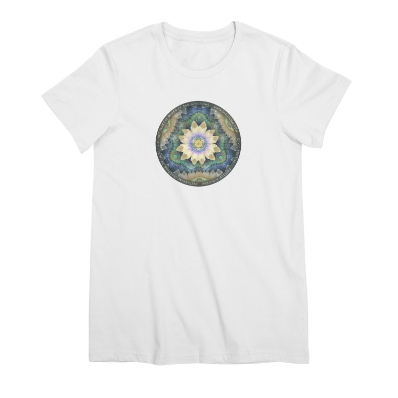 The Pastel Petals of Spring's First Lotus Blossom Women's Premium T-Shirt by The Fractal Art of San Jaya Prime