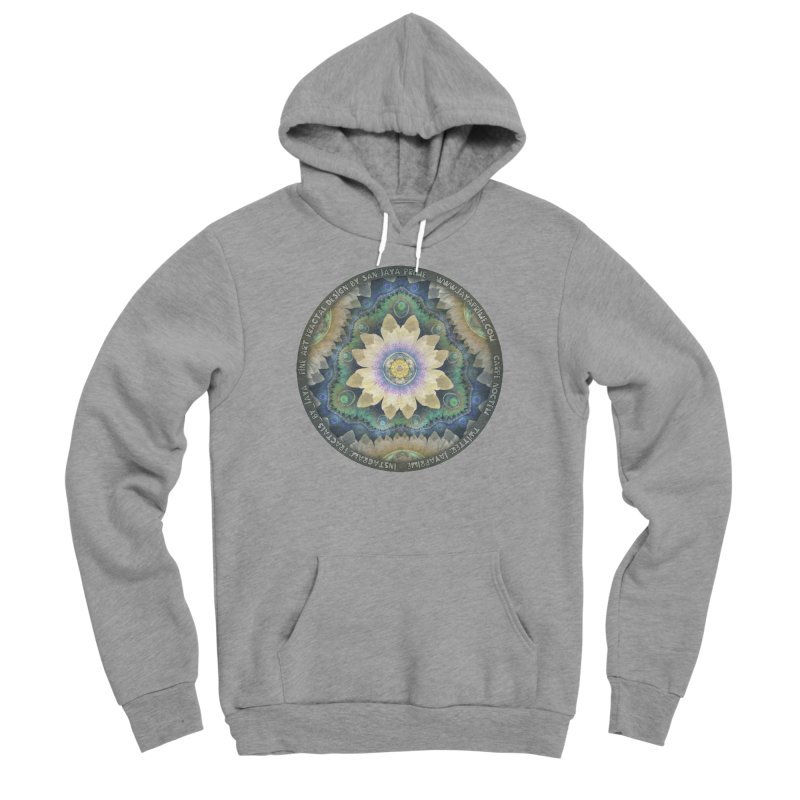 The Pastel Petals of Spring's First Lotus Blossom Women's Sponge Fleece Pullover Hoody by The Fractal Art of San Jaya Prime