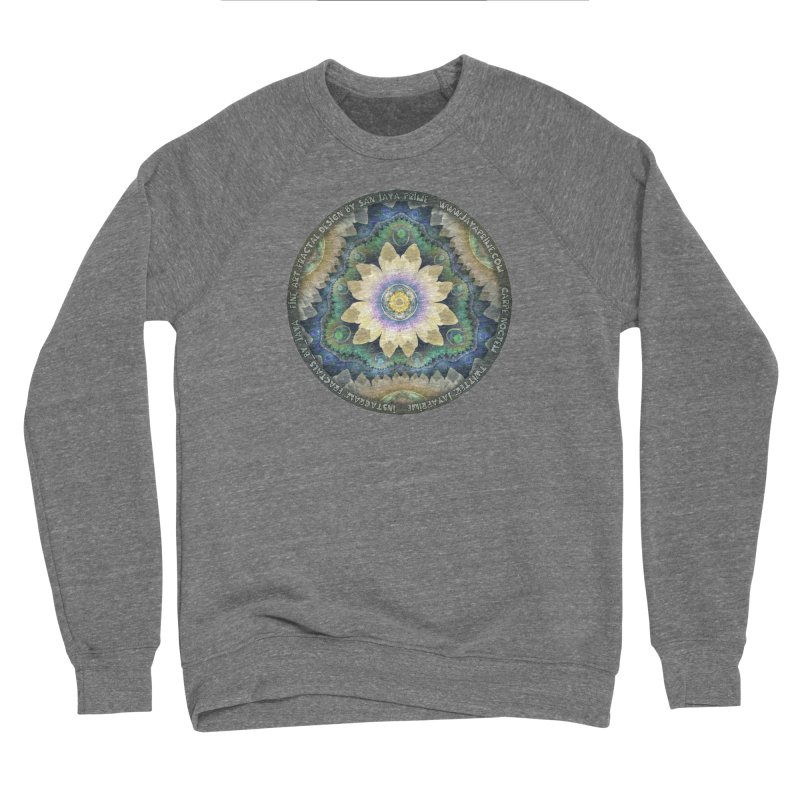 The Pastel Petals of Spring's First Lotus Blossom Women's Sweatshirt by The Fractal Art of San Jaya Prime