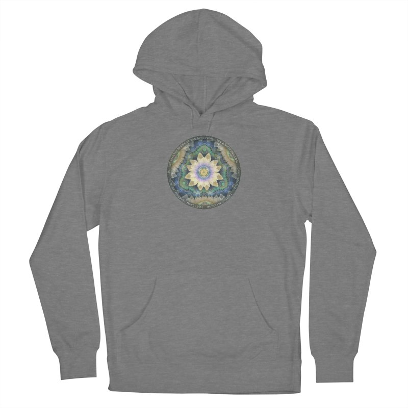 The Pastel Petals of Spring's First Lotus Blossom Women's Pullover Hoody by The Fractal Art of San Jaya Prime