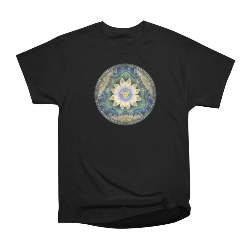 The Pastel Petals of Spring's First Lotus Blossom Women's Heavyweight Unisex T-Shirt by The Fractal Art of San Jaya Prime