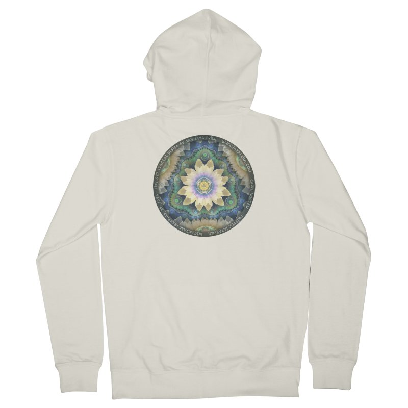The Pastel Petals of Spring's First Lotus Blossom Women's Zip-Up Hoody by The Fractal Art of San Jaya Prime