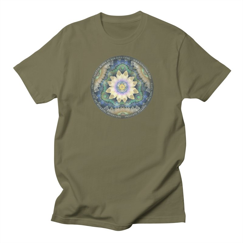 The Pastel Petals of Spring's First Lotus Blossom Women's Regular Unisex T-Shirt by The Fractal Art of San Jaya Prime