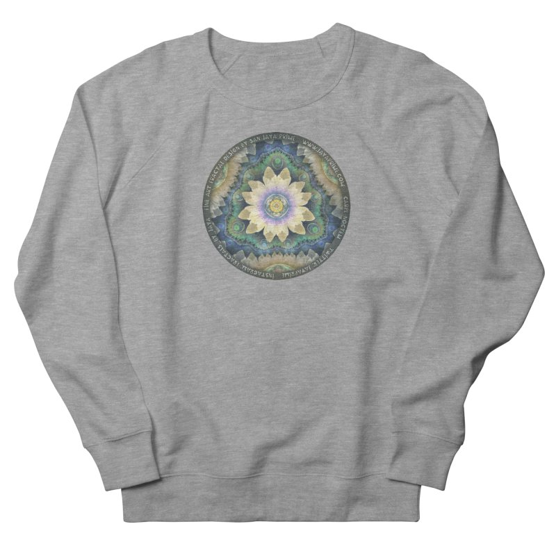 The Pastel Petals of Spring's First Lotus Blossom Women's French Terry Sweatshirt by The Fractal Art of San Jaya Prime