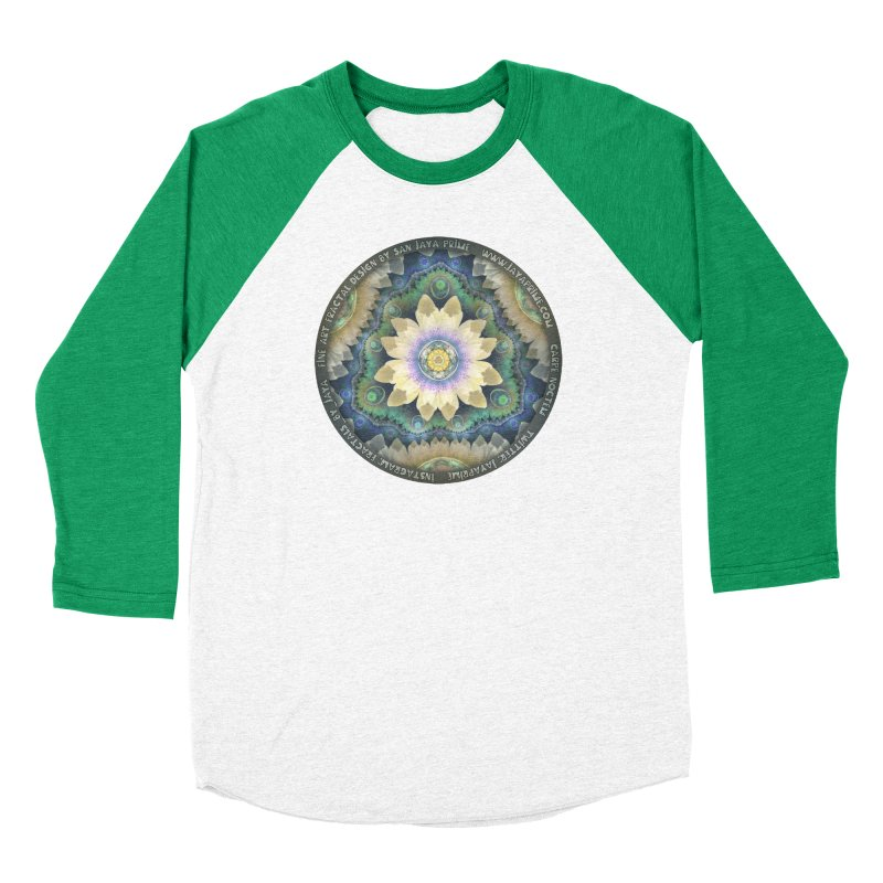 The Pastel Petals of Spring's First Lotus Blossom Women's Baseball Triblend Longsleeve T-Shirt by The Fractal Art of San Jaya Prime