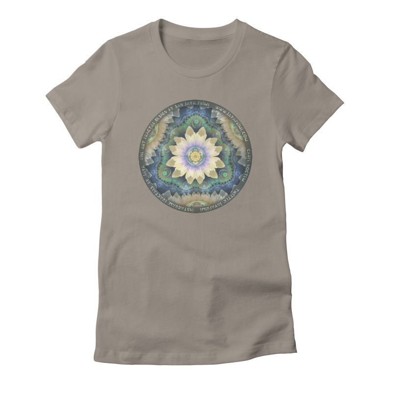 The Pastel Petals of Spring's First Lotus Blossom Women's T-Shirt by The Fractal Art of San Jaya Prime