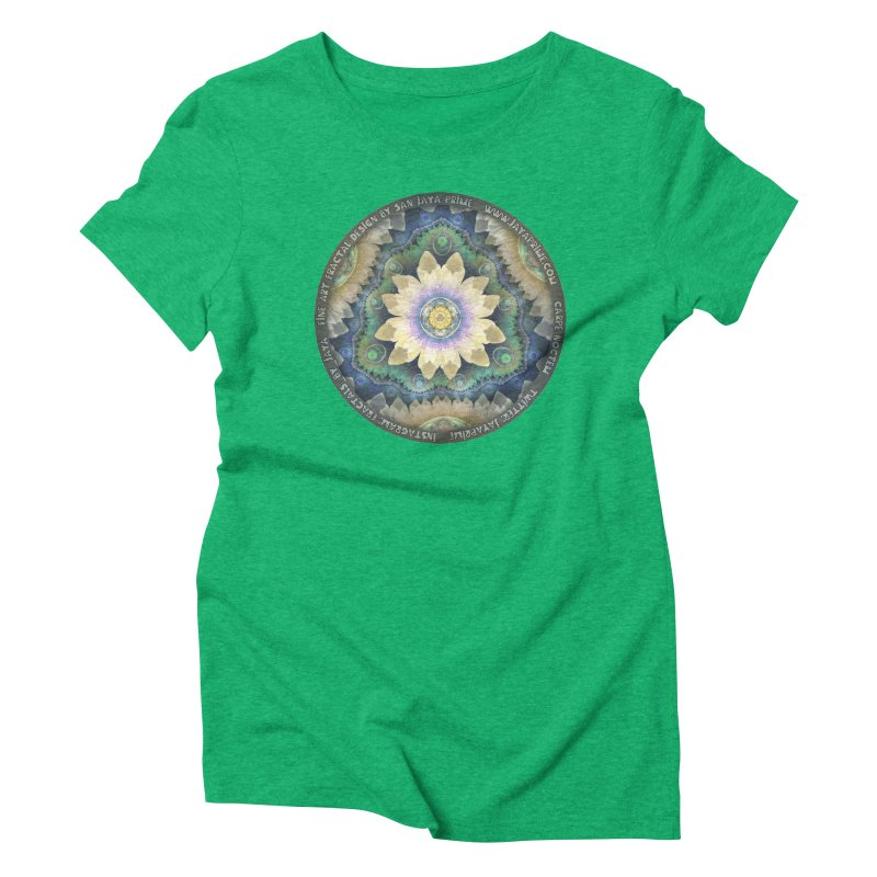 The Pastel Petals of Spring's First Lotus Blossom Women's Triblend T-Shirt by The Fractal Art of San Jaya Prime