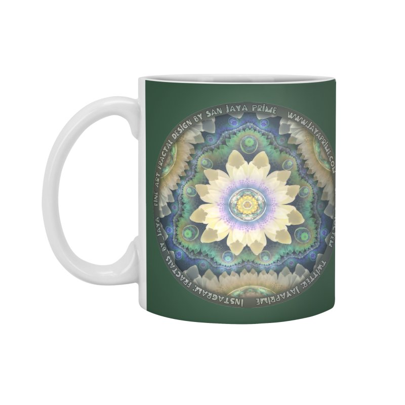 The Pastel Petals of Spring's First Lotus Blossom Accessories Standard Mug by The Fractal Art of San Jaya Prime