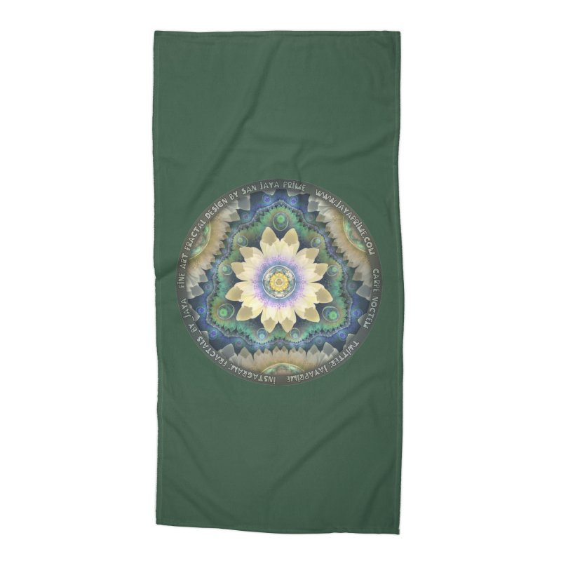 The Pastel Petals of Spring's First Lotus Blossom Accessories Beach Towel by The Fractal Art of San Jaya Prime