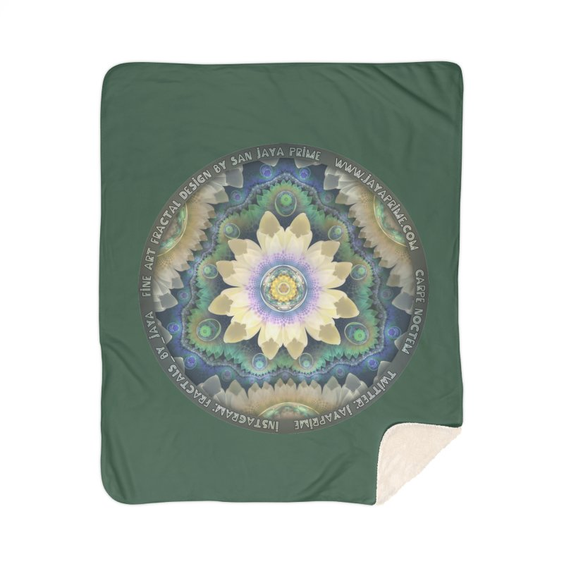 The Pastel Petals of Spring's First Lotus Blossom Home Sherpa Blanket Blanket by The Fractal Art of San Jaya Prime