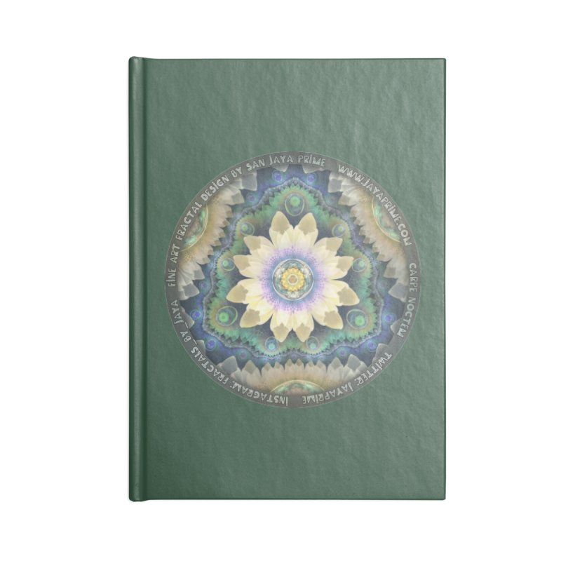 The Pastel Petals of Spring's First Lotus Blossom Accessories Lined Journal Notebook by The Fractal Art of San Jaya Prime
