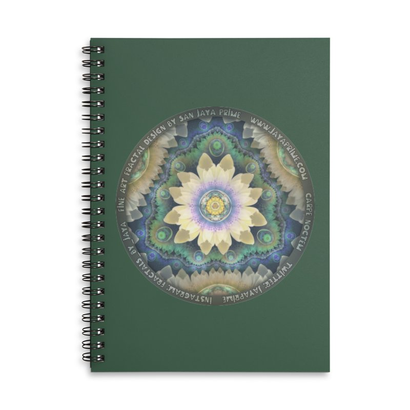The Pastel Petals of Spring's First Lotus Blossom Accessories Lined Spiral Notebook by The Fractal Art of San Jaya Prime